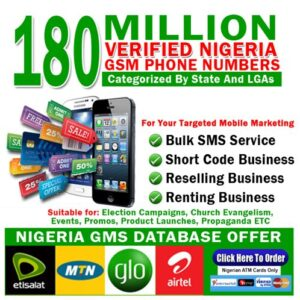 Nigeria GSM Phone numbers DATA BASE